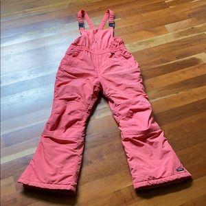 Lands End Girls Iron Knee Snow Overalls Bibs Pants